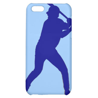 Blue theme baseball player simple iphone case iPhone 5C cover