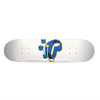 blue themed baby carriage graphic.png 21.6 cm old school skateboard deck