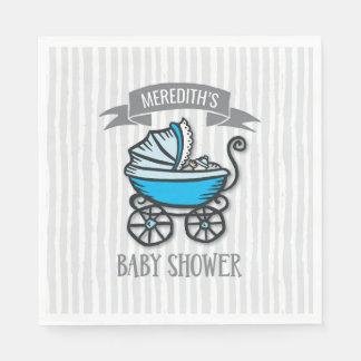 Blue-Themed Baby Shower Disposable Serviette