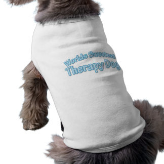 Blue Therapy Dog Saying Shirt