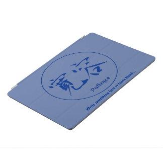 Blue thin round circle • Patience kanji iPad Pro Cover
