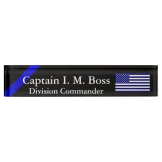 Blue Through and Through - Thin Blue Line Flag Nameplate