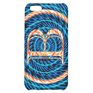 Blue Tidal Spiral Monogram B Cover For iPhone 5C