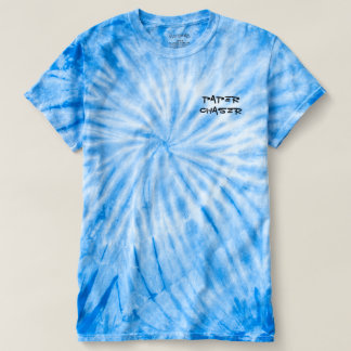 Blue tie died paper chaser shirt