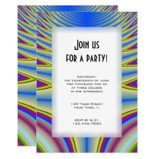 Blue Tie Dye All Purpose Party Invitation