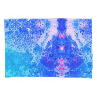 Blue Tie-Dye Marbled Pillowcase