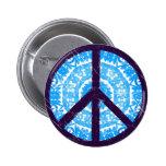 Blue Tie-dye Peace Sign Badge