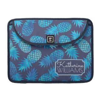 Blue Tie Dye Pineapples | Add Your Name Sleeve For MacBooks