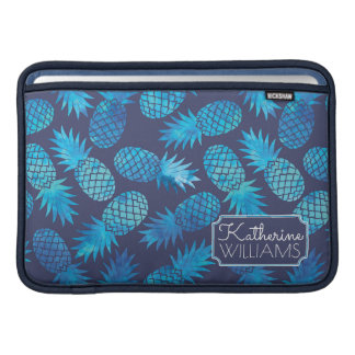 Blue Tie Dye Pineapples | Add Your Name Sleeves For MacBook Air