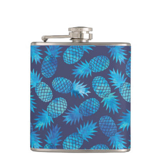 Blue Tie Dye Pineapples Flasks
