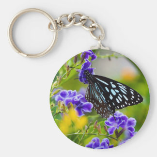 Blue Tiger Butterfly keychain
