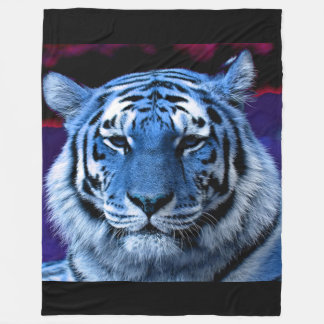 Blue Tiger Fleece Blanket