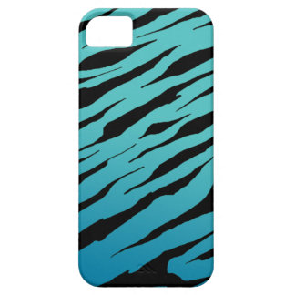 Blue Tiger Stripe iPhone5/5S Cases