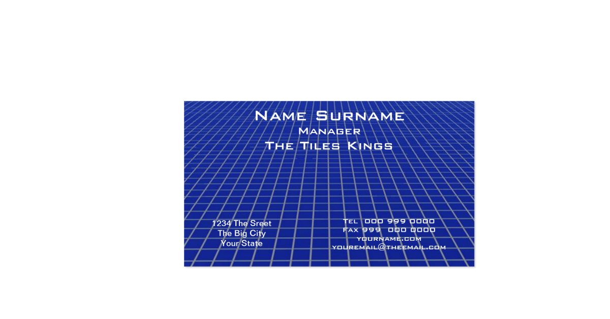 Blue Tile Business Card Business Card