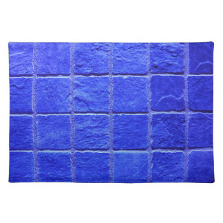 Blue tiles background placemats