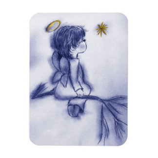 Blue Tint Angel Wishing Magnet