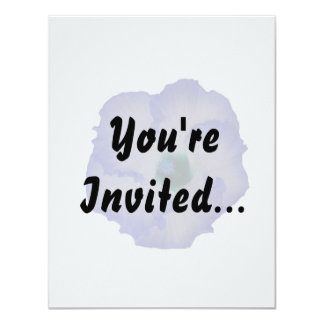 Blue tinted hibiscus flower personalized invitations