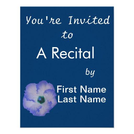 Blue tinted hibiscus flower custom announcements