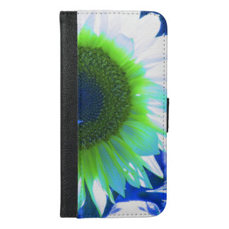 Blue Tinted Sunflower iPhone 6/6s Plus Wallet Case