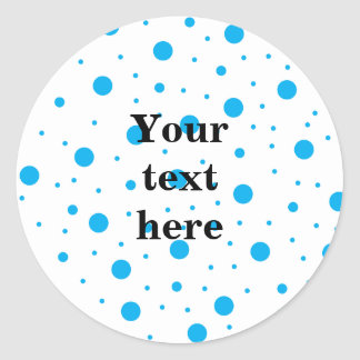 Blue tiny and big polka dots stickers