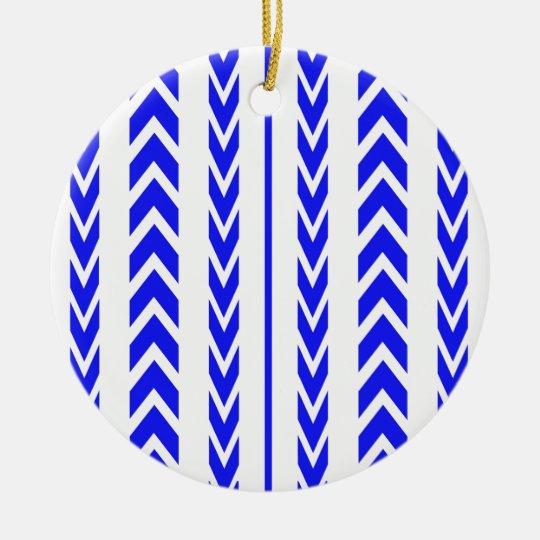 Blue Tire Tread Ceramic Ornament