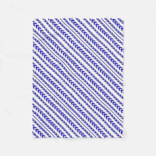 Blue Tire Tread Fleece Blanket