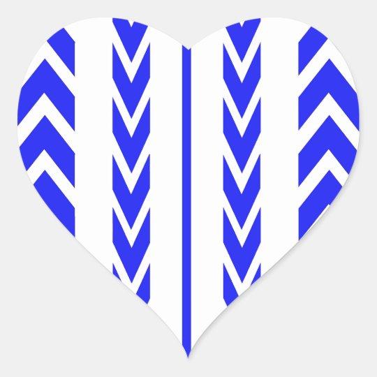 Blue Tire Tread Heart Sticker
