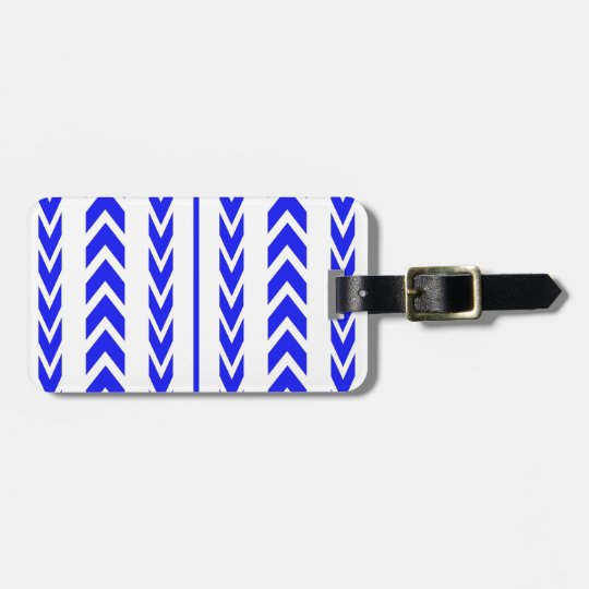 Blue Tire Tread Luggage Tag