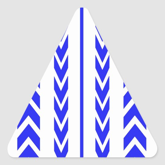 Blue Tire Tread Triangle Sticker