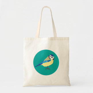 Blue Tit Bird Tote Bag