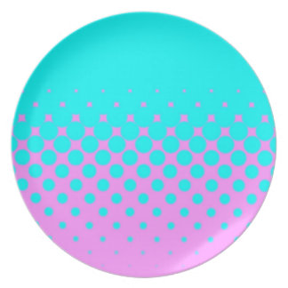 Blue to pink plate