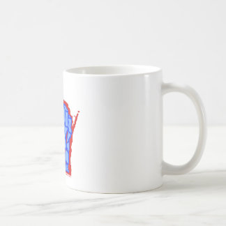 Blue to the bone mug