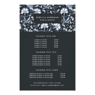 Blue Toile Pricing & Services Flyer