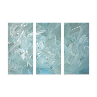Blue Tone Abstract Painting Canvas Print