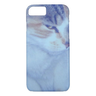 Blue Tone Calico Kitty iPhone 7 Case