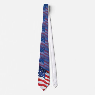 Blue tone USA flag (USA_0110) - Tie