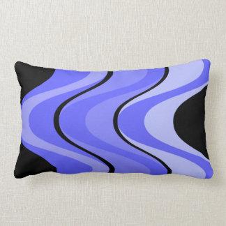 Blue Tones on Black Pillow Cushion