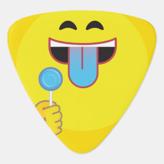 Blue Tongue Emoji Plectrum