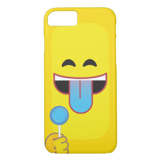 Blue Tongue Emoticon iPhone 7 Case