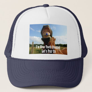 Blue Tooth Enabled Horse Trucker Hat