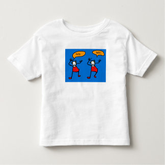 Blue Tootsies  say  hello T-shirt