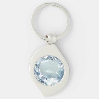Blue Topaz 1 Key Ring