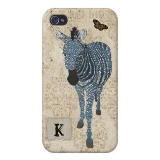 Blue Topaz Zebra iPhone Case iPhone 4/4S Cover
