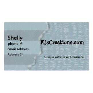 Blue Torn Paper Business Cards