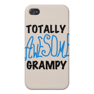 Blue Totally Awesome Grampy and Gifts Covers For iPhone 4
