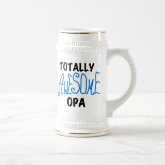 Blue Totally Awesome Opa T-shirts and Gifts Beer Steins