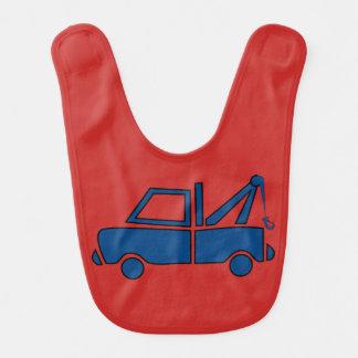 Blue Tow Truck Baby Bib
