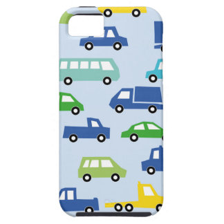 blue toy car pattern - automobile illustration iPhone 5 case