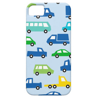 blue toy car pattern - automobile illustration iPhone 5 cover