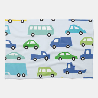 blue toy car pattern - automobile illustration towels